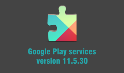 Google Play services update rolling on Play Store with version 11.5.30, APK available for download