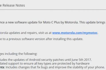 Moto C Plus security patch