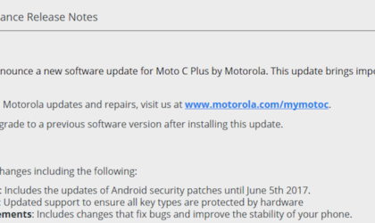 Moto C Plus receives OTA update with June security patch