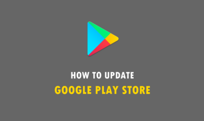 How to download Play Store update