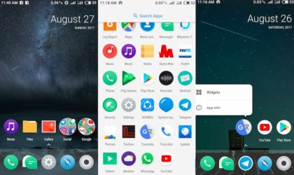 Download Android Oreo Launcher3 home screen replacement app for your Samsung, Xiaomi, Meizu, Sony, Huawei and any other OEM's devices