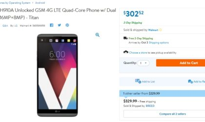 LG V20 Deal: Get the unlocked 64GB variant for just $302.52 at Walmart