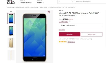 Meizu M5 Deal: Price drops to INR 7,999 in India