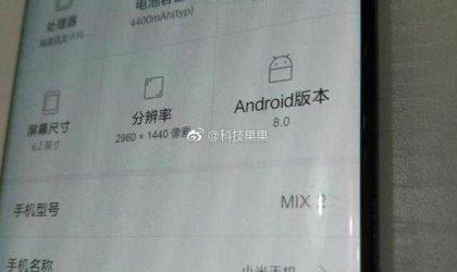 Mi Mix 2 specs revealed in leak
