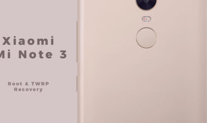 [Download] Xiaomi Mi Note 3 Root and TWRP Recovery