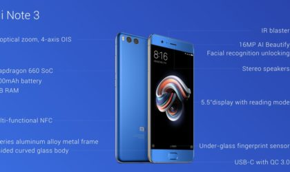 Xiaomi Mi Note 3 launched with 5.5 inch display, Snapdragon 660 SoC and dual rear camera