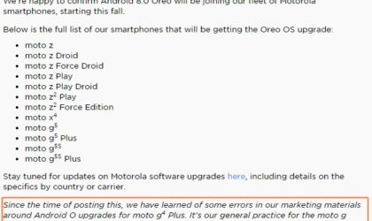 Moto G4 Plus to officially receive Oreo update after all, awesome!