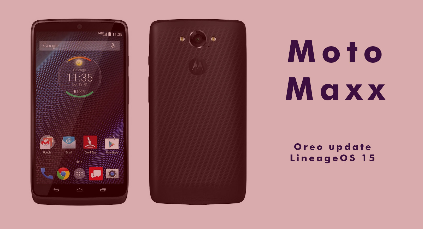 Moto Maxx Oreo update available thanks to LineageOS 15 ROM
