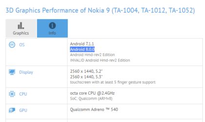 Nokia 9 Android 8.0 Oreo update spotted in testing! Could it come pre-installed?