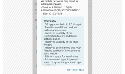 Canadian Galaxy A5 (2017) now receiving Nougat update