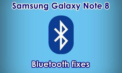 How to fix Galaxy Note 8 bluetooth problems