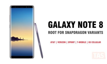 How to Root Galaxy Note 8 (N950U) Snapdragon variants from AT&T, Verizon, Sprint, T-Mobile and US Cellular with SamFAIL