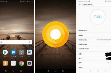 Huawei Mate 9 Oreo Leak