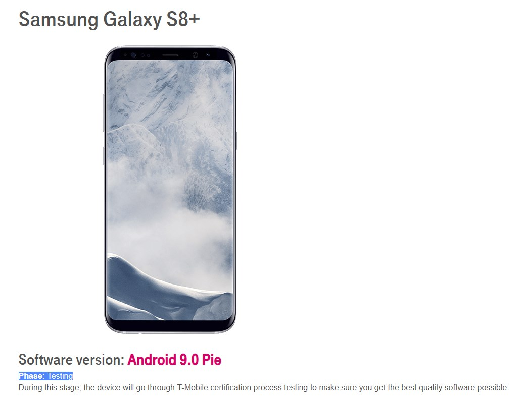 T-Mobile-Galaxy-S8-Pie-testing