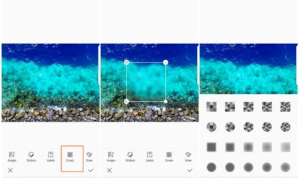 How to blur an image on Samsung Galaxy devices to cover sensitive information