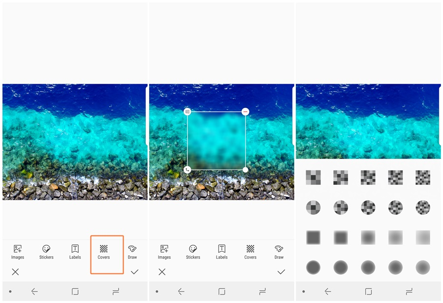 How to blur an image on Samsung Galaxy devices to cover