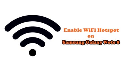 How to enable WiFi Hotspot on Sprint Galaxy Note 8