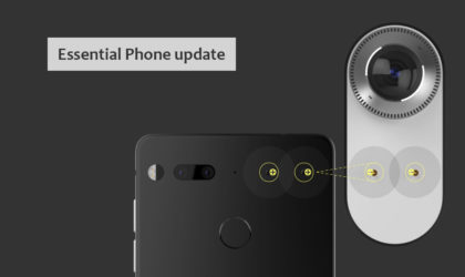 Essential Phone receives another update (NMJ03B) that is not Oreo; improves camera app