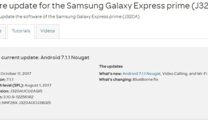 AT&T Galaxy Express Prime Android 7.1.1 Nougat update rolling out
