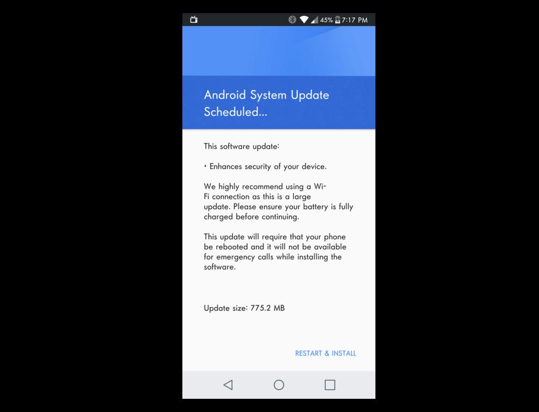 lg g6 update release