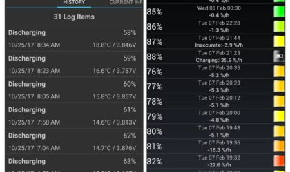 How to keep track of battery drain information on Android