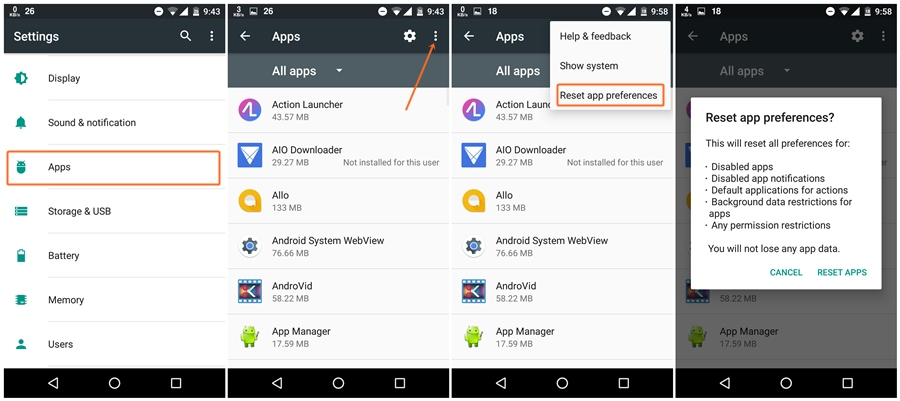 how to change where apps are installed on android