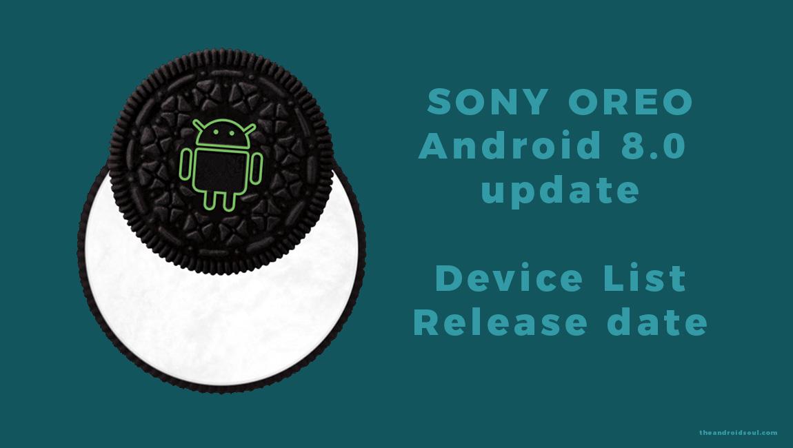 sony Oreo update