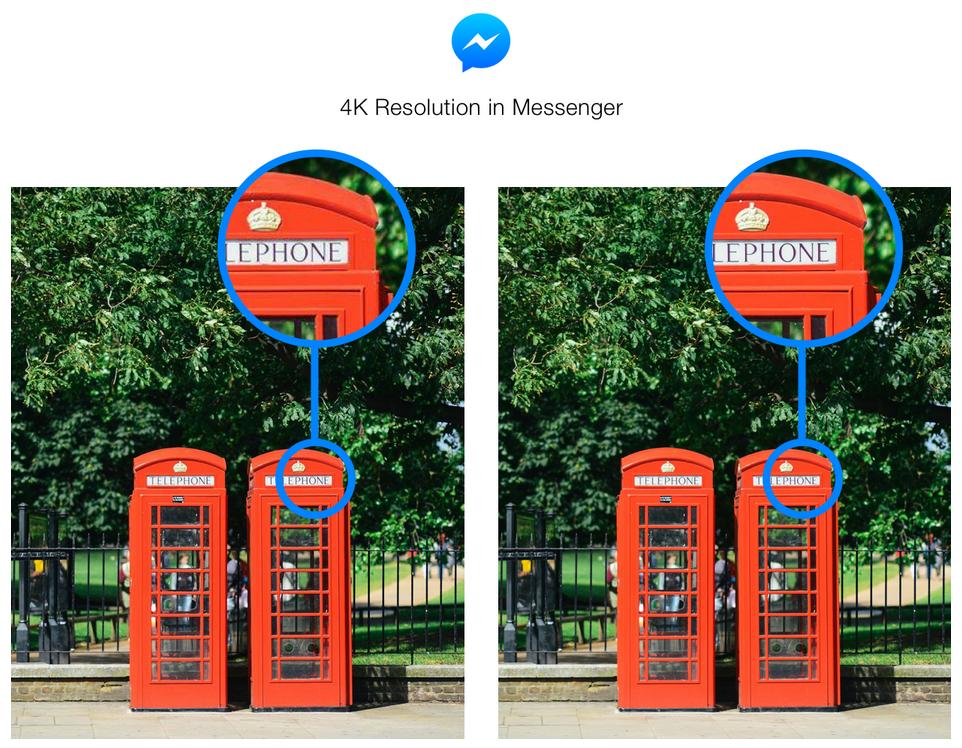 4k resolution in messenger