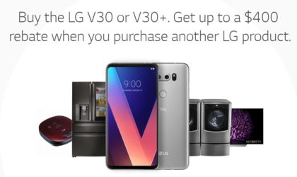 [Black Friday Deal] Buy a LG V30 or V30+ now and get $400 rebate when you purchase another LG product