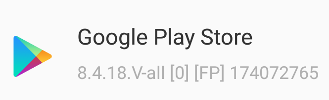 Play Store app updated to version 8.4.18 by Google
