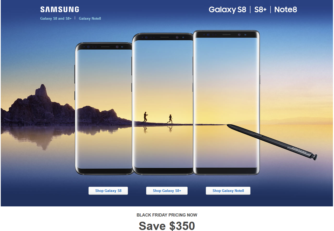 Black Friday Deal Get 350 Off On Galaxy Note 8 S8 And At Best Buy