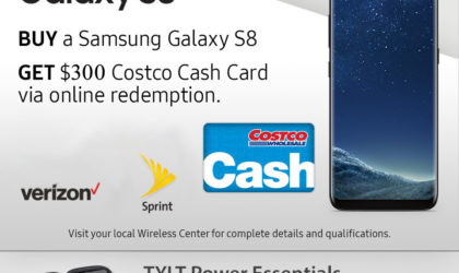 [Hot Deal] Buy a Verizon or Sprint Galaxy S8 and S8+ from Costco and get $300 refund as Cash Card
