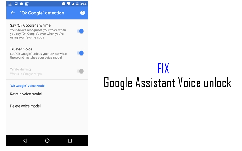 Google Assistant Voice Unlock not working on your Android device