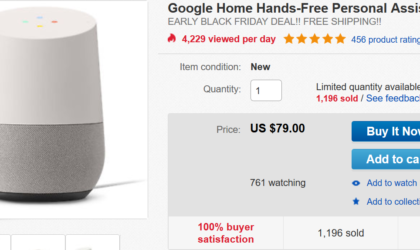 [Hot Deal] Get Google Home for just $79 on eBay