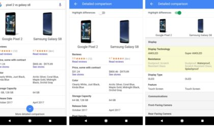 Google brings phone comparison to its Search