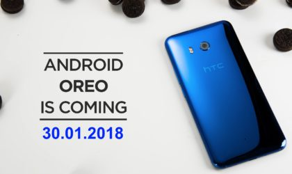 HTC U11 Oreo OTA rolling out in India and Singapore on Jan 30