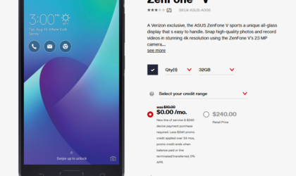 Verizon Asus Zenfone V is available for free right now, with contract