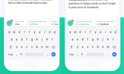 Grammarly keyboard now available for Android