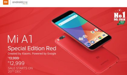 Xiaomi Mi A1 Special Edition Red available December 20 in India