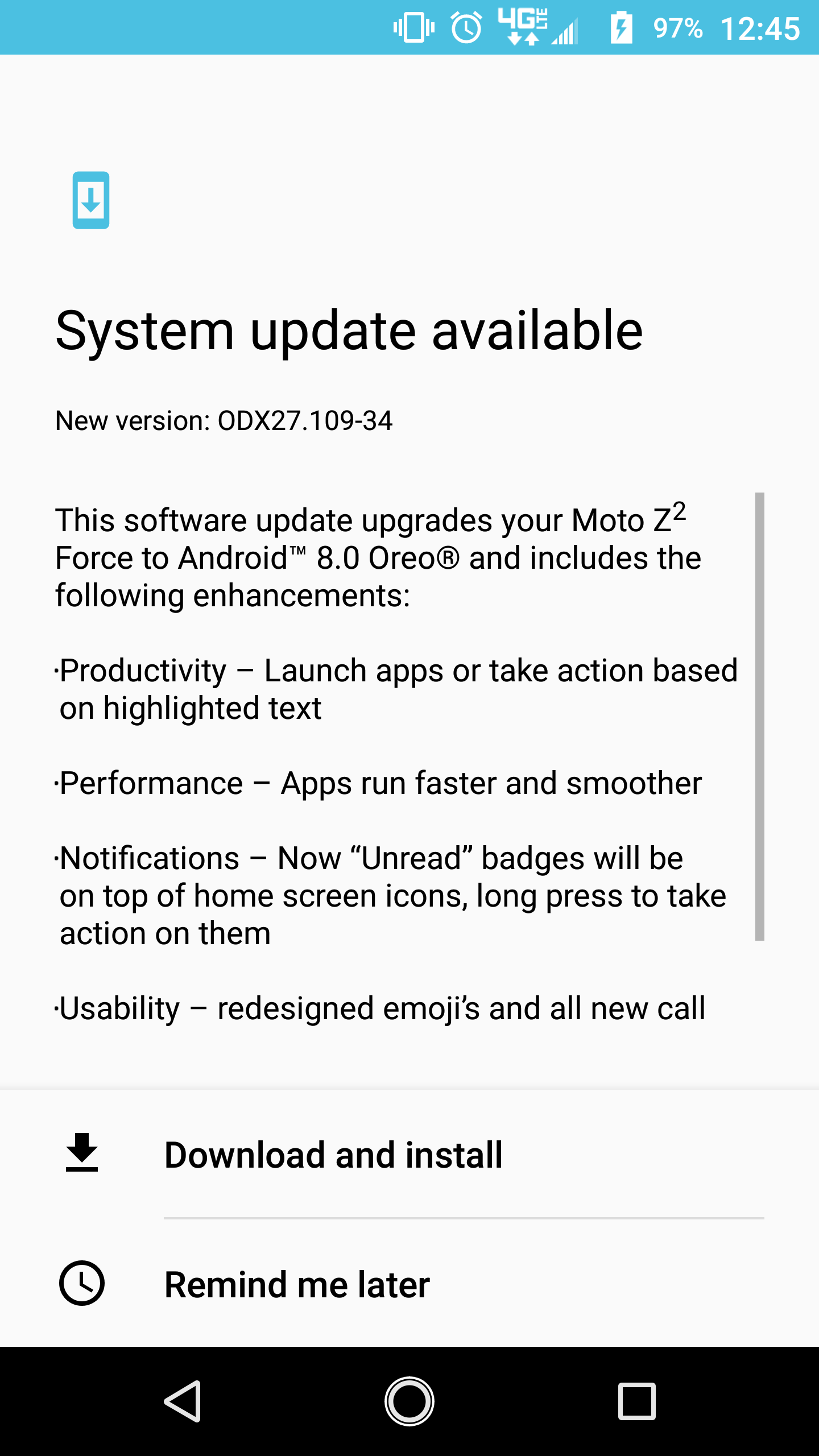 Verizon Moto Z2 Force gets Android Oreo update