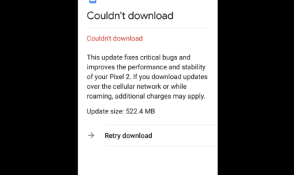 Android 8.1 update download for Pixel 2 apparently blocked in Bahrain