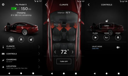 Tesla Android app gets an update with new features