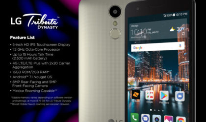 LG Tribute Dynasty launched at Sprint and Boost Mobile for $99