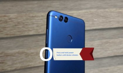 How to force restart Honor 7X when touch is not working (screen not responding)