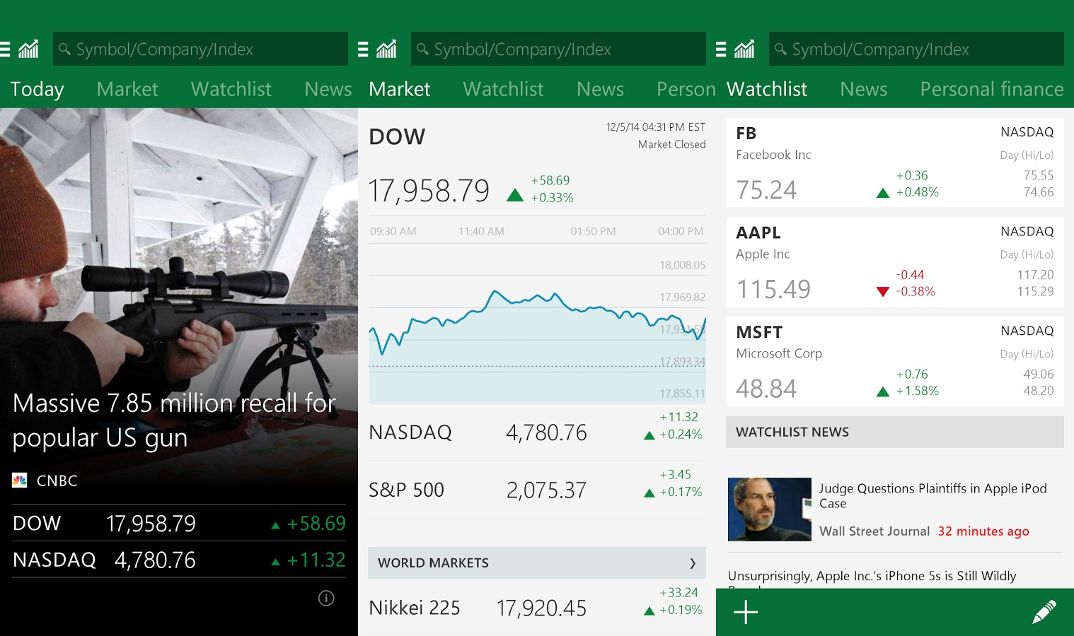 Msn Money Stock Quotes Top Android Apps From Biggest Tech Companies  The Android Soul