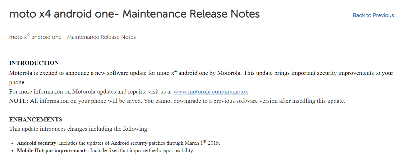 Moto-X4-Android-One-March-patch