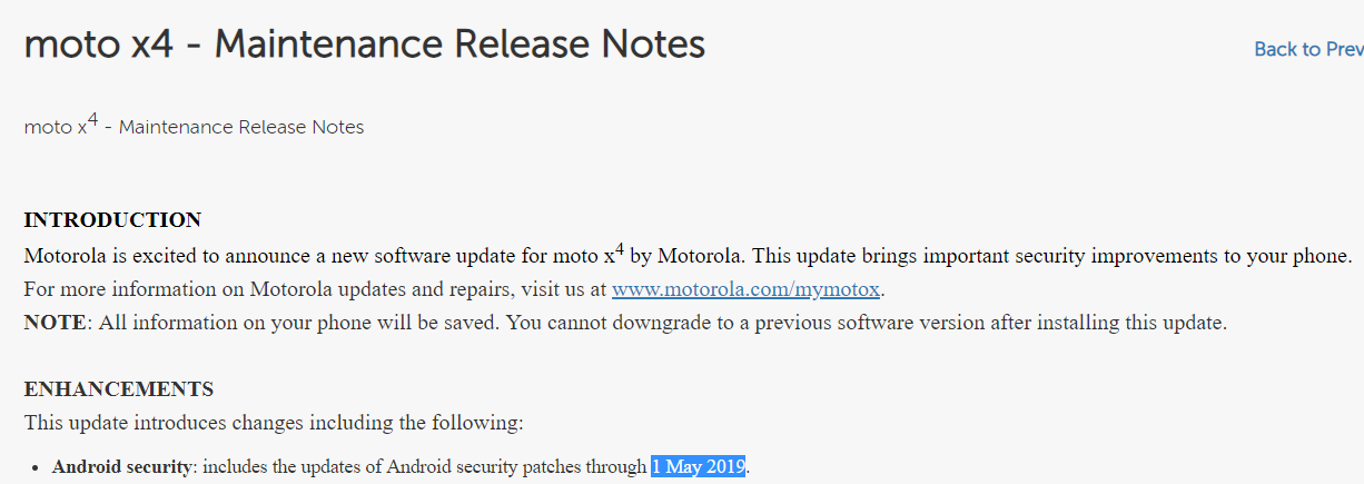 Moto-X4-May-2019-security-patch