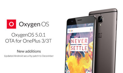 OxygenOS 5.0.1 Oreo update for OnePlus 3/3T available for download