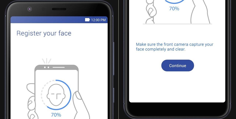 ZenFone max plus face unlock screen