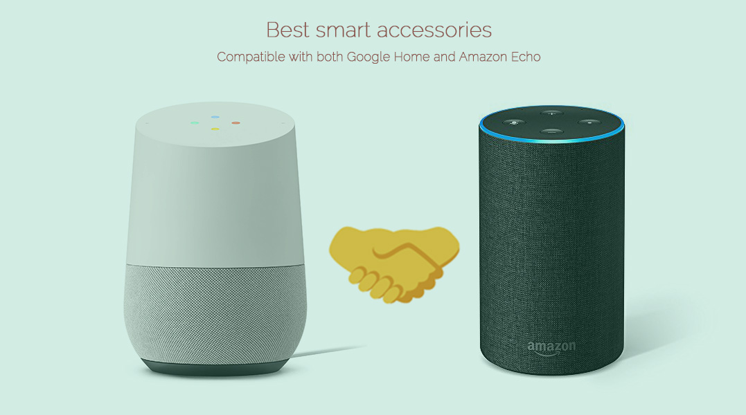 best smart home accessories compatible with both google home and amazon echo. Black Bedroom Furniture Sets. Home Design Ideas